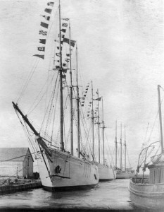 Page.159.Photo.No.34.Meteghan River.schooners