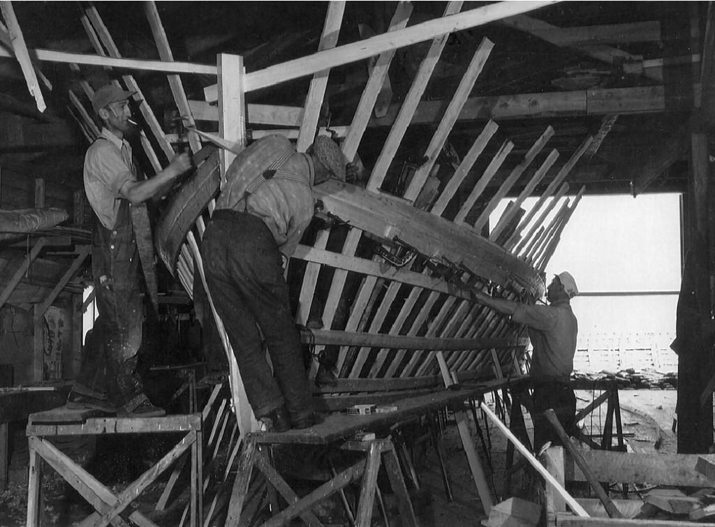 Page.174.Photo.No.61.Herman Doucet Boat shop